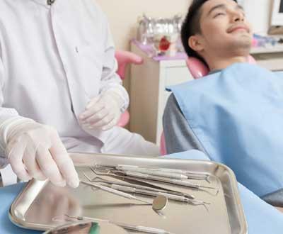 歯科検査の前の様子