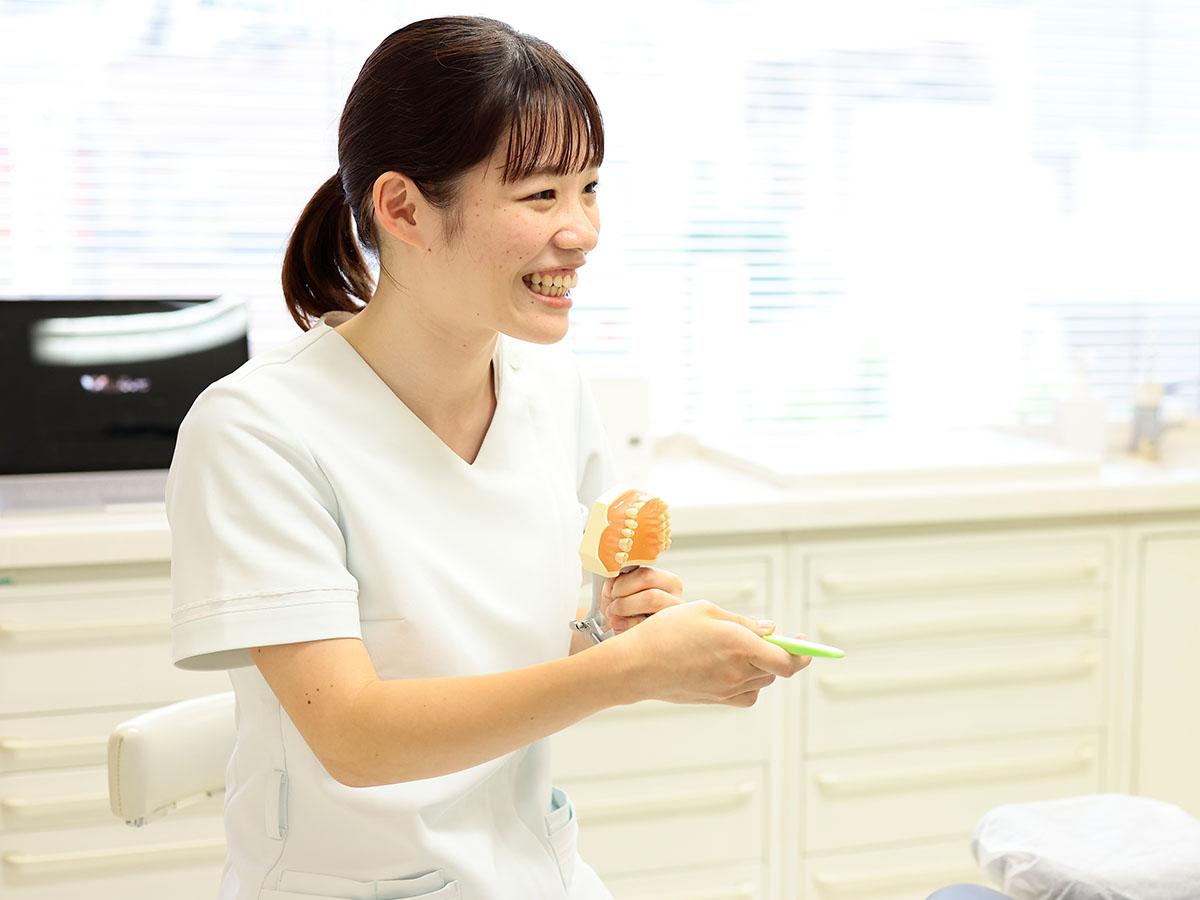 歯科衛生士によるTBIの様子